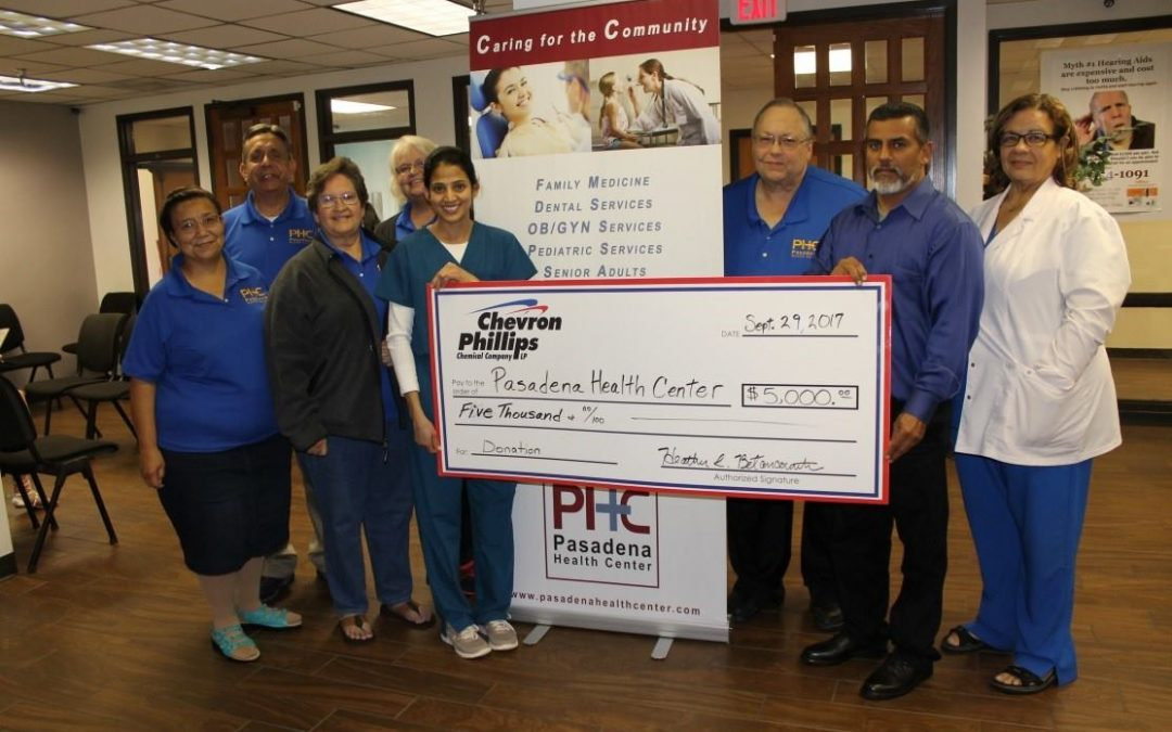 CPChem Helps Pasadena Health Center with Disaster Relief Donation